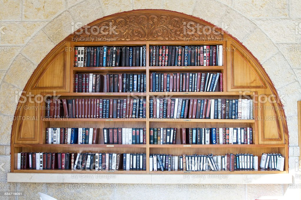 Books in the synagogue . stock photo