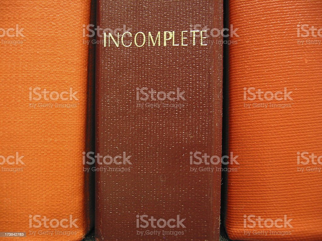 Books - Incomplete stock photo