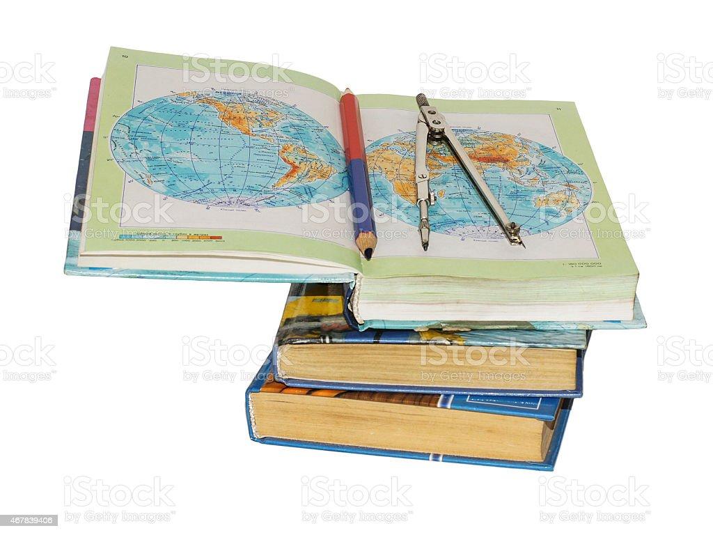 books isolated on white background royalty-free stock photo