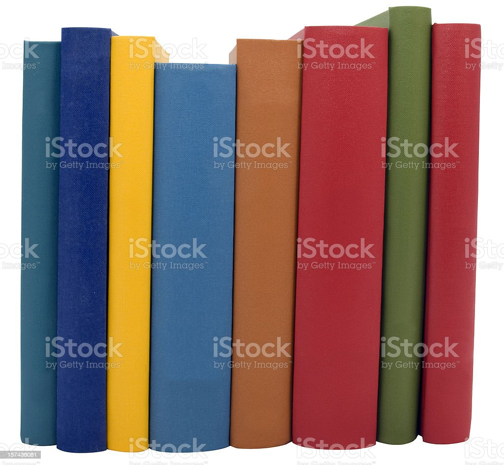Books Isolated on White stock photo