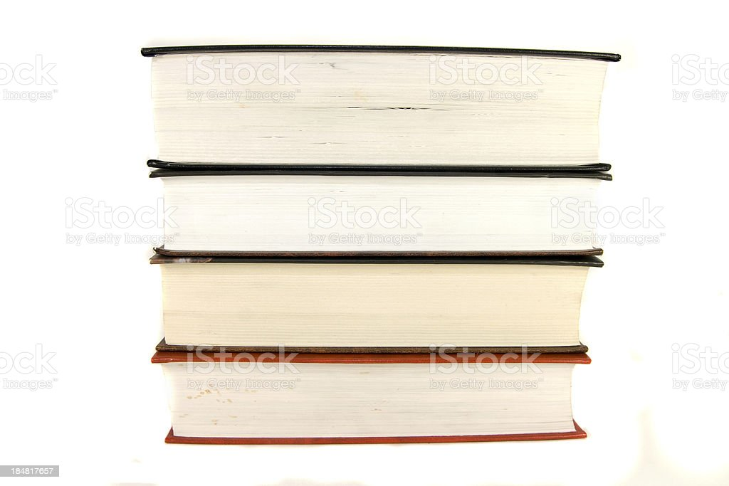 Bücher Isoliert Lizenzfreies stock-foto