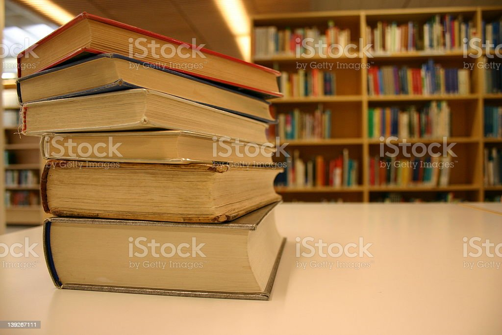 Books - Library stock photo