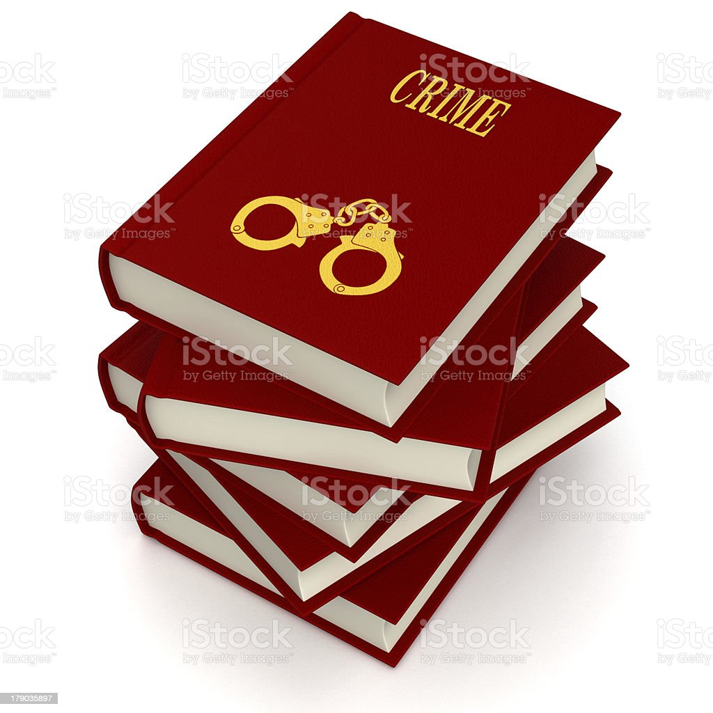 Books of CRIME royalty-free stock photo
