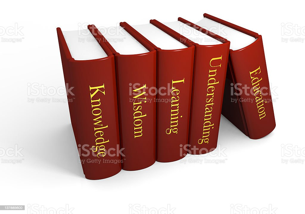 Books of knowledge royalty-free stock photo