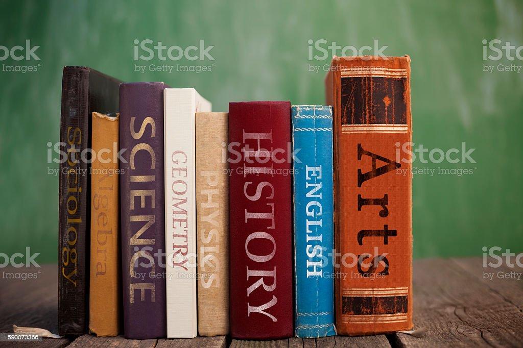 Books of knowledge stock photo