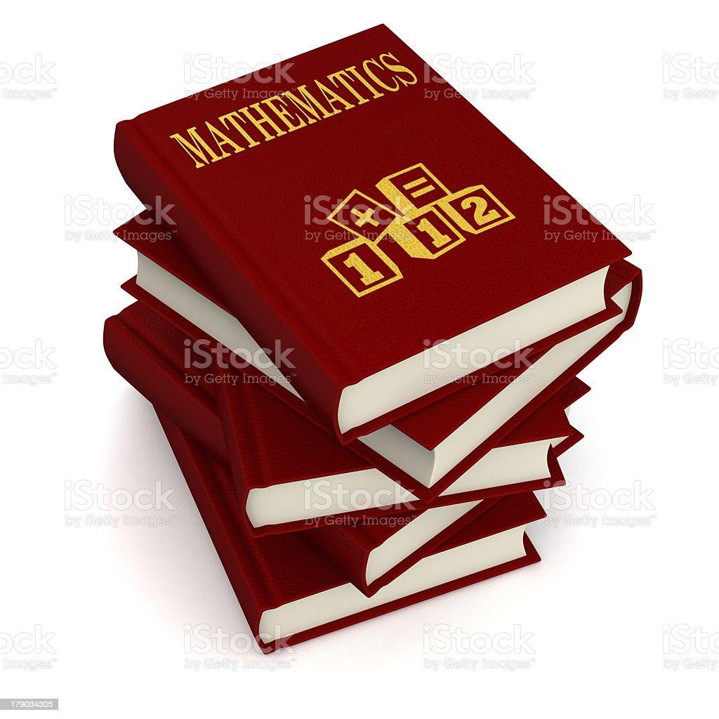 Books of MATHEMATICS royalty-free stock photo