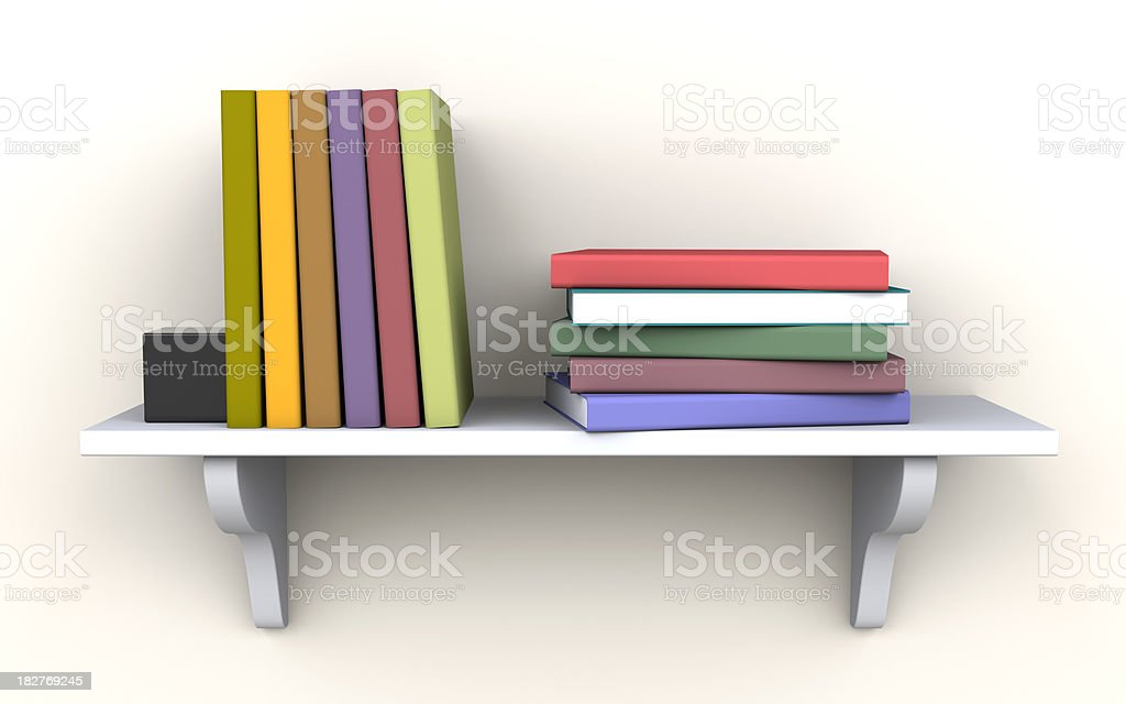 Books on the shelf royalty-free stock photo