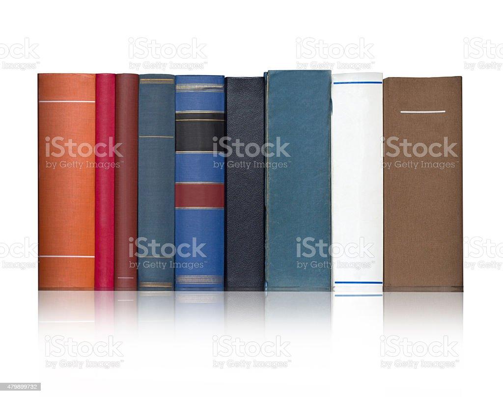 Books on the white backgroun stock photo