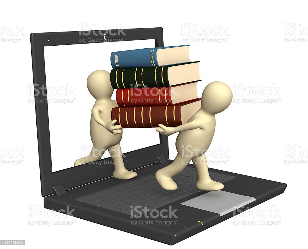 Books online royalty-free stock photo