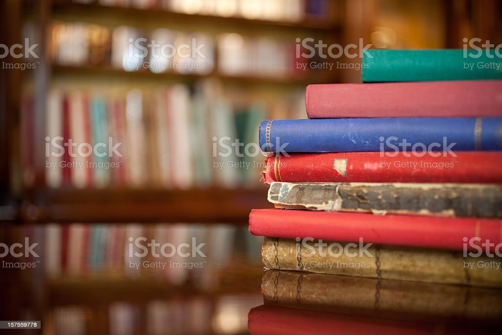 Books Over the Table royalty-free stock photo