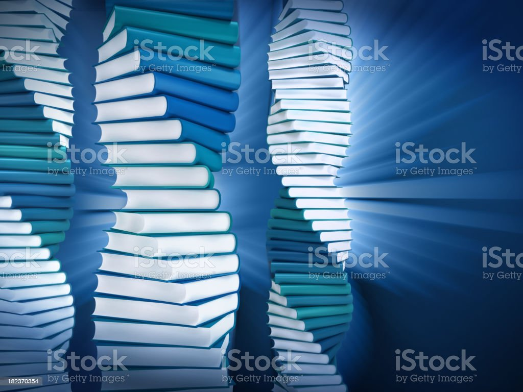 DNA books royalty-free stock photo