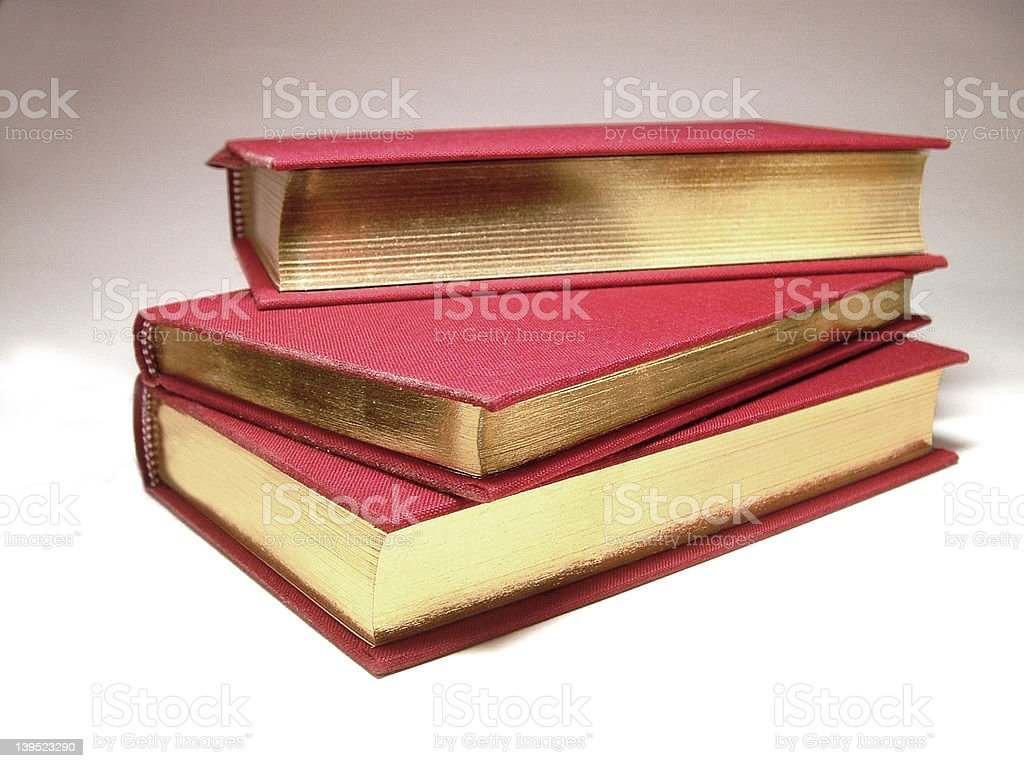 Books - Red and gold royalty-free stock photo