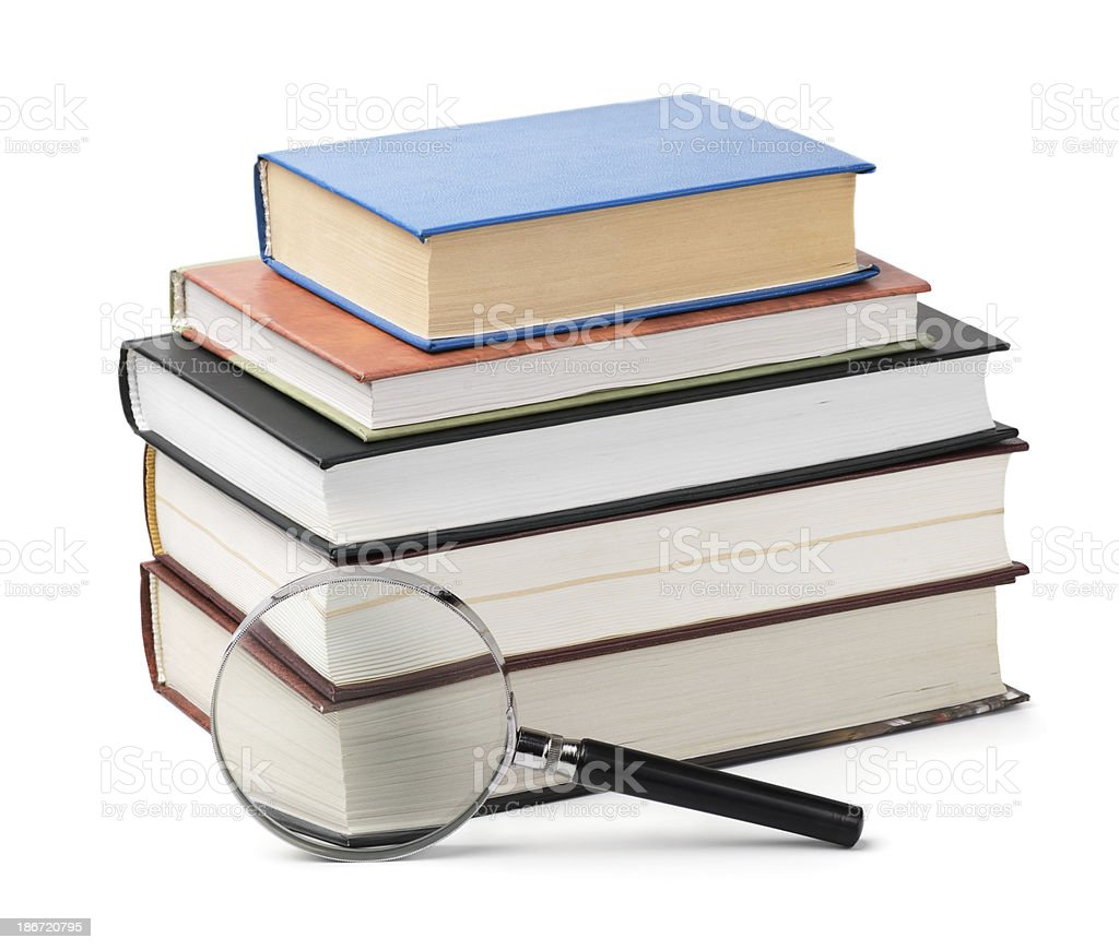 Books review royalty-free stock photo