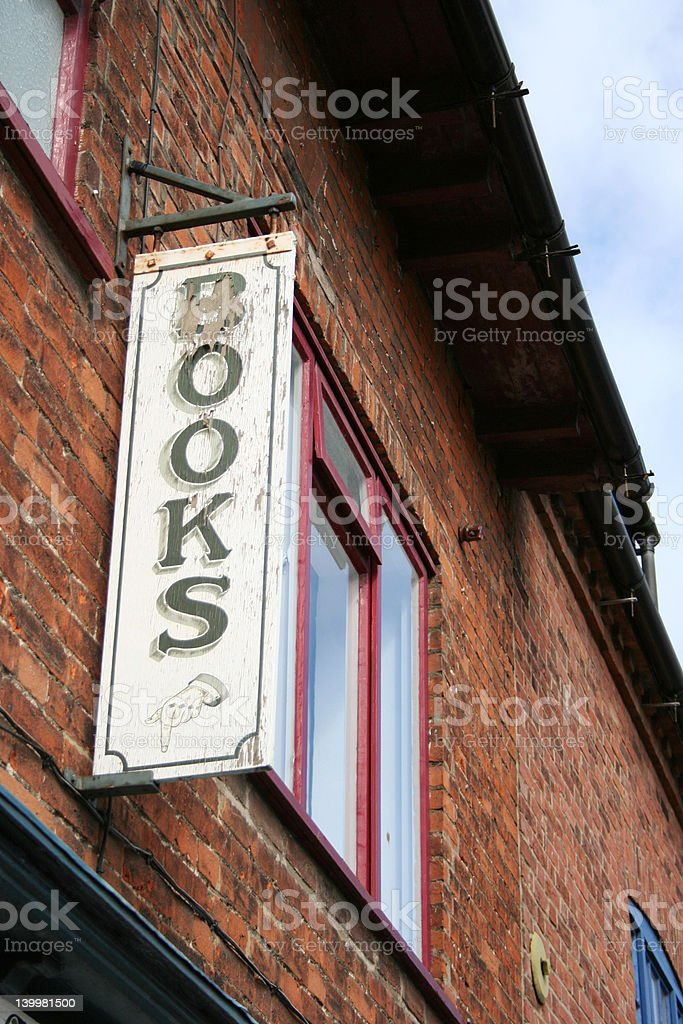 Books Sign royalty-free stock photo