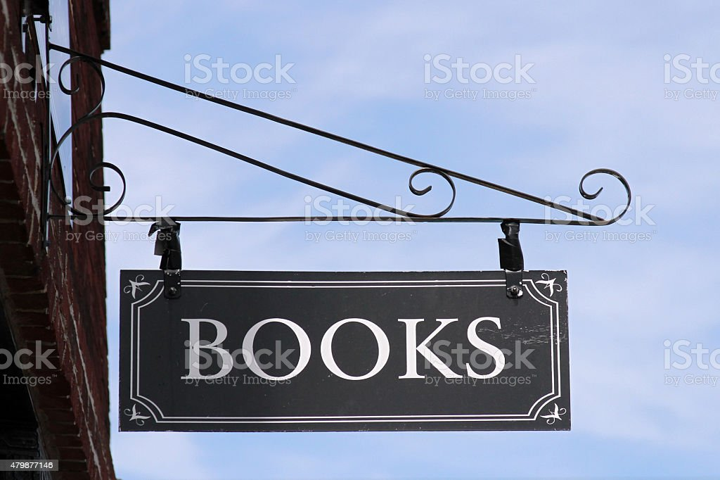 Books sign stock photo