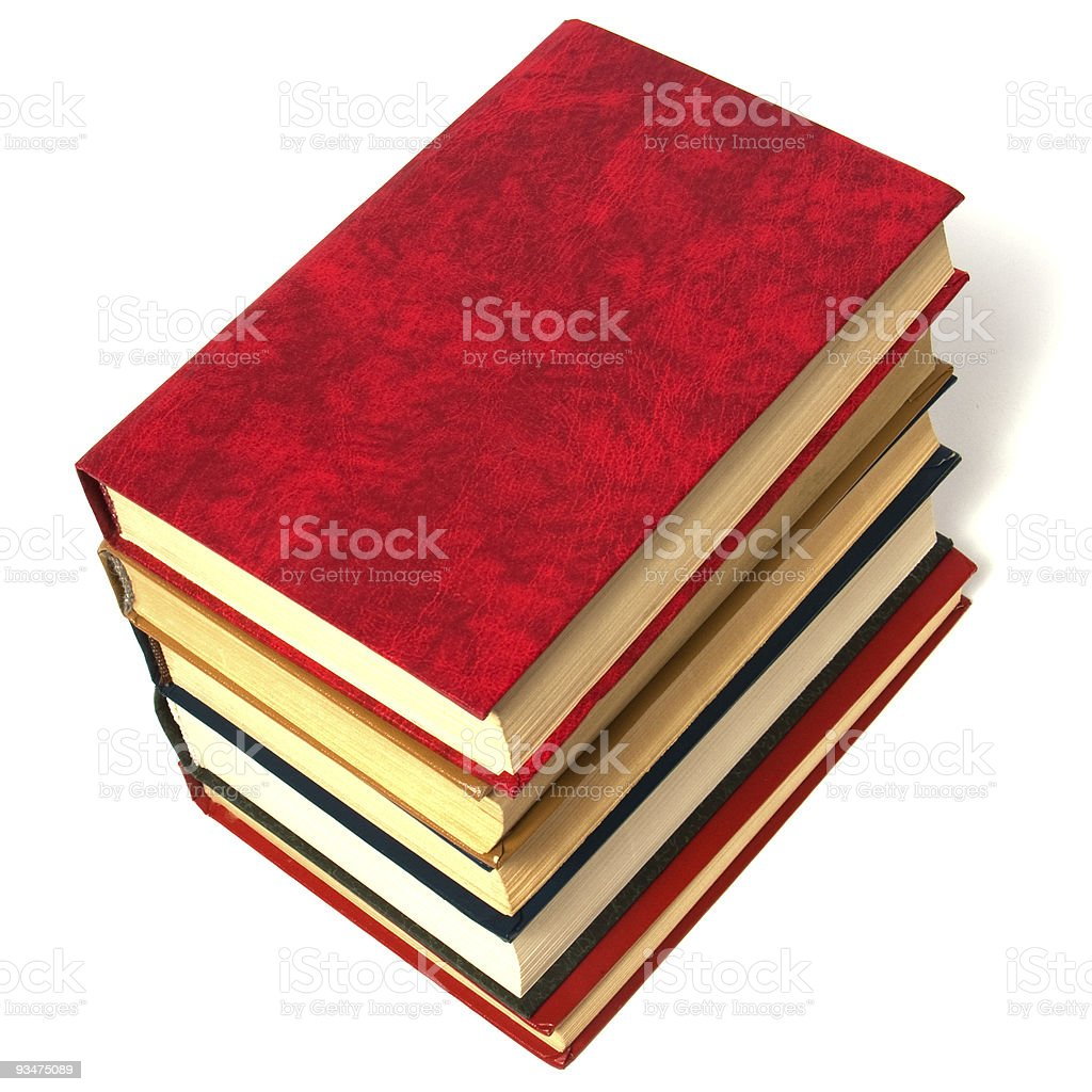 books stack on white background royalty-free stock photo