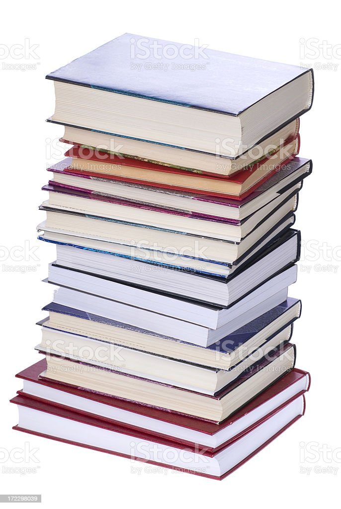 Books stack royalty-free stock photo