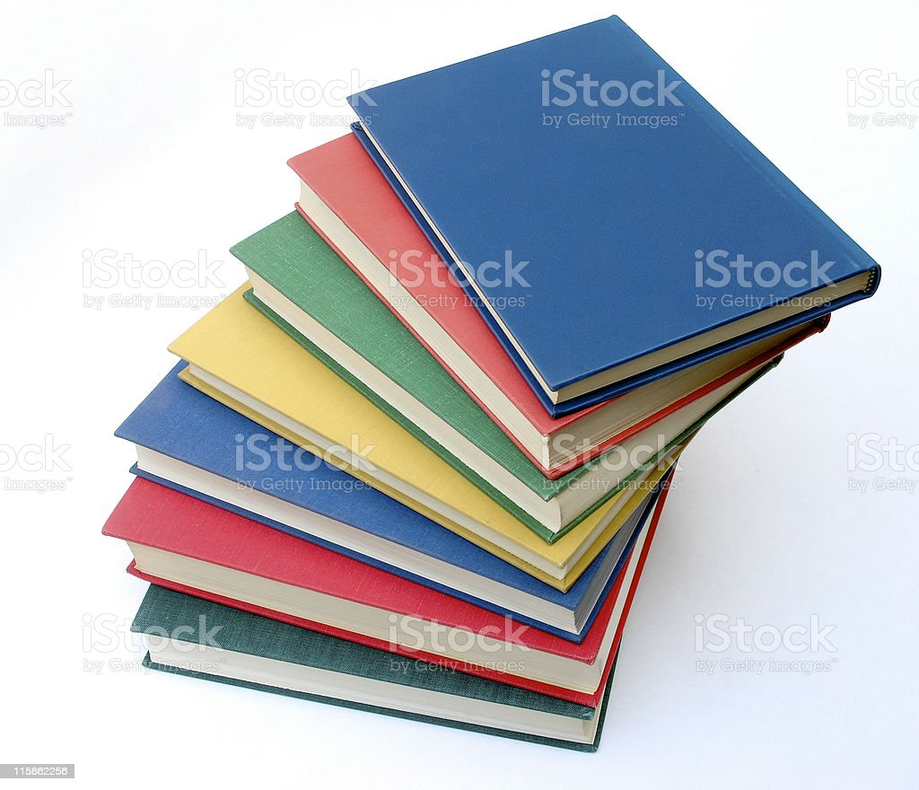 Books Stacked royalty-free stock photo