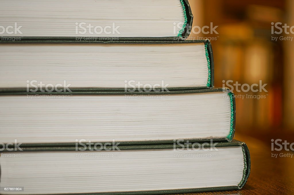 Books stacked stock photo