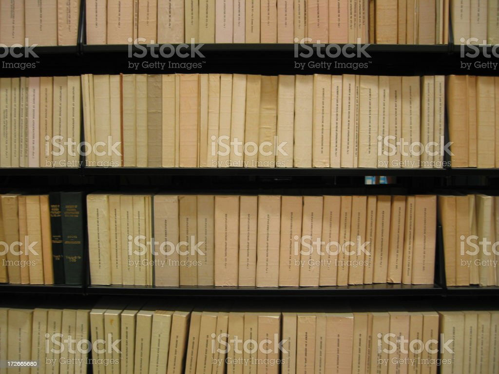 Books - wall of devoid stock photo