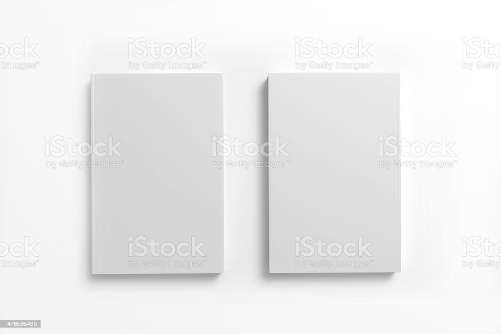 Books with blank cover on white background stock photo