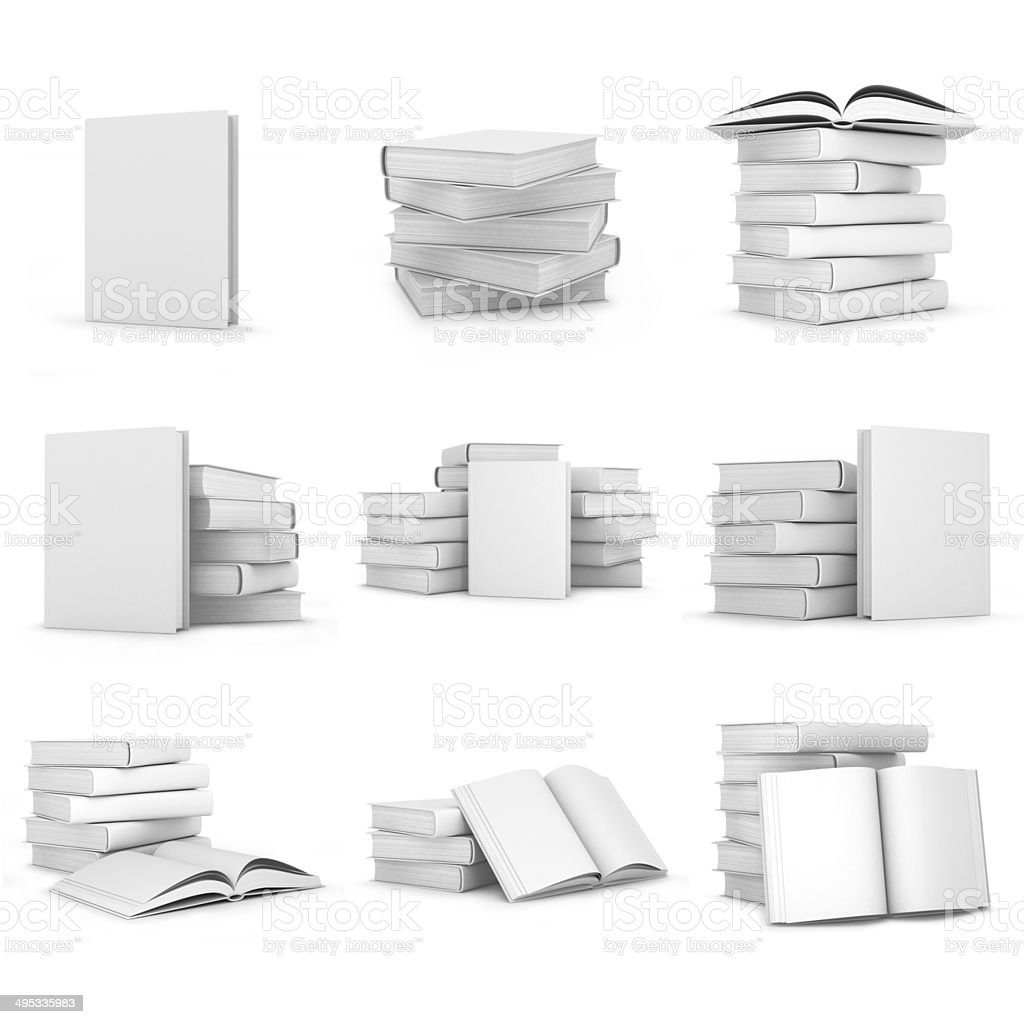 books with blank covers stock photo