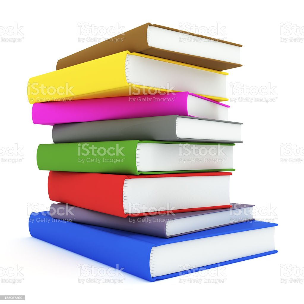 Books with Clipping Path royalty-free stock photo
