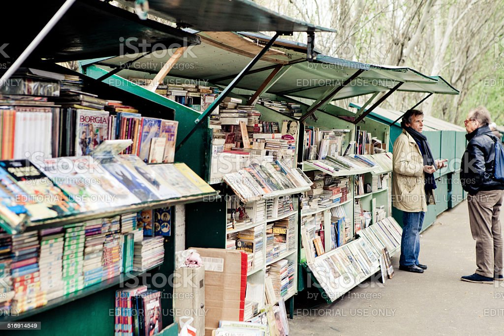 Bookseller Stand In Paris stock photo