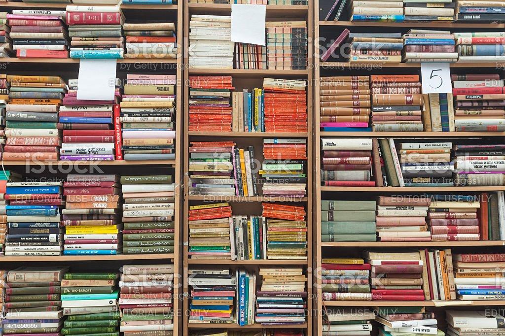 Bookshelf royalty-free stock photo