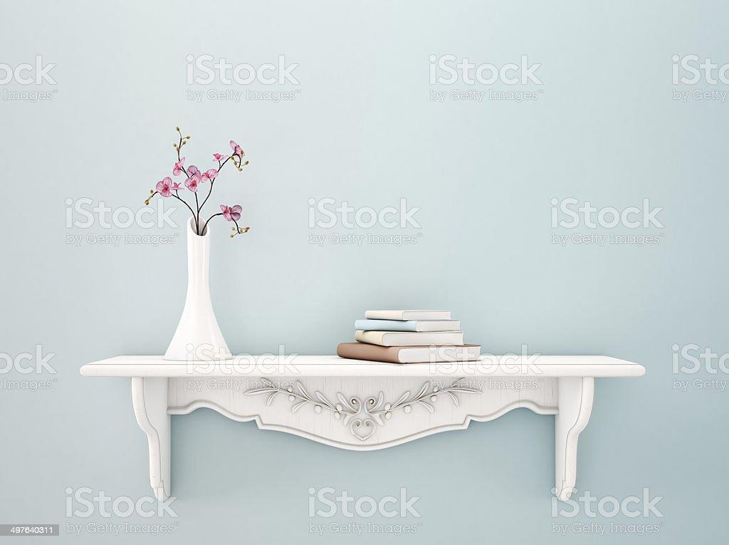 Bookshelf stock photo