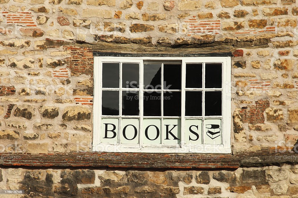 Bookshop Window royalty-free stock photo