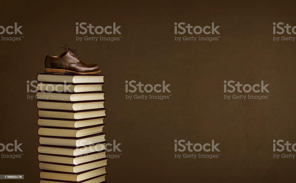 books-shoe royalty-free stock photo