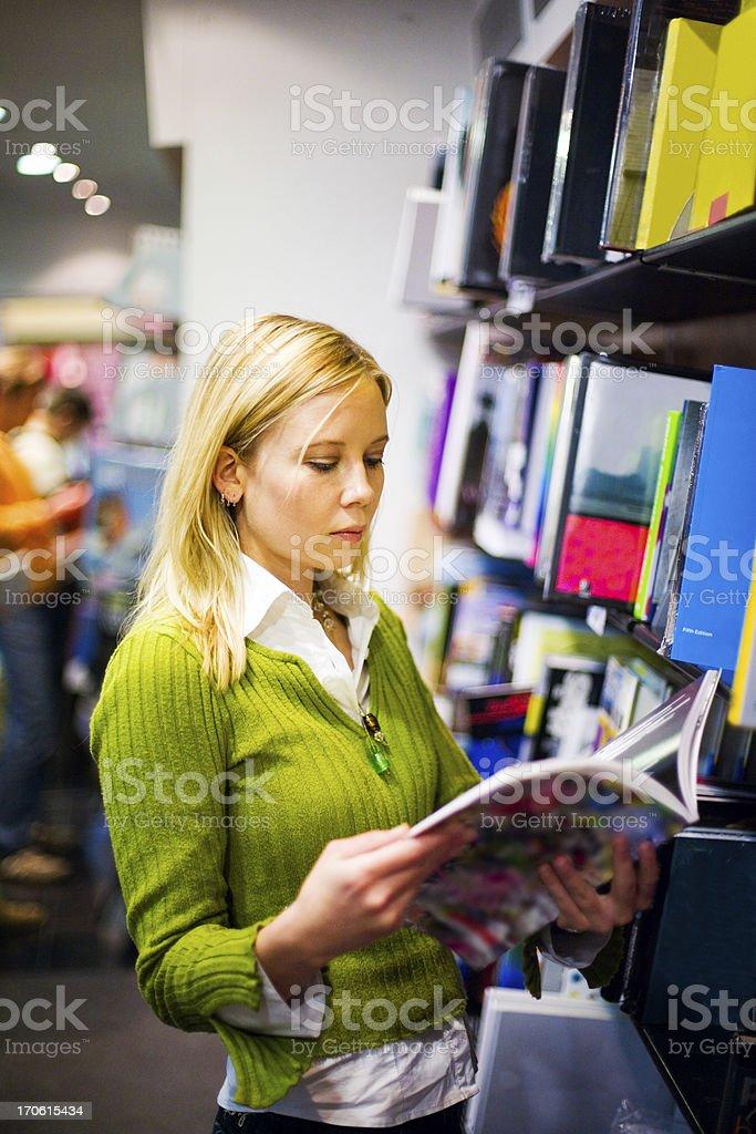 Bookstore browsing royalty-free stock photo