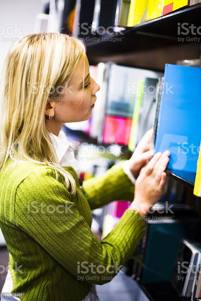 Bookstore browsing #2 royalty-free stock photo