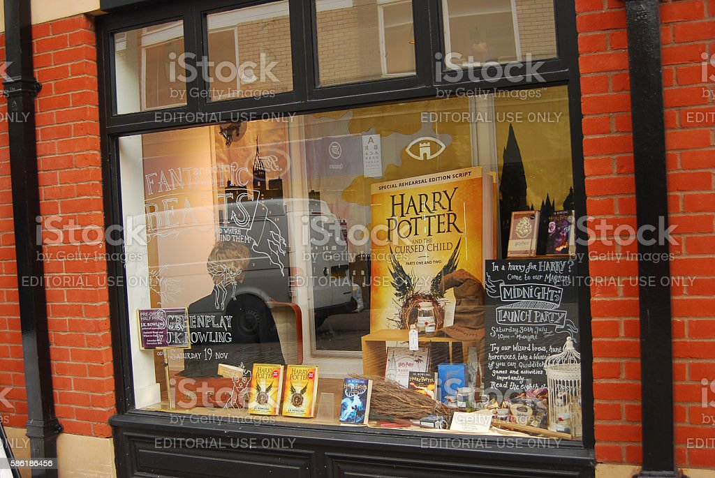 Bookstore display in Norwich,England stock photo