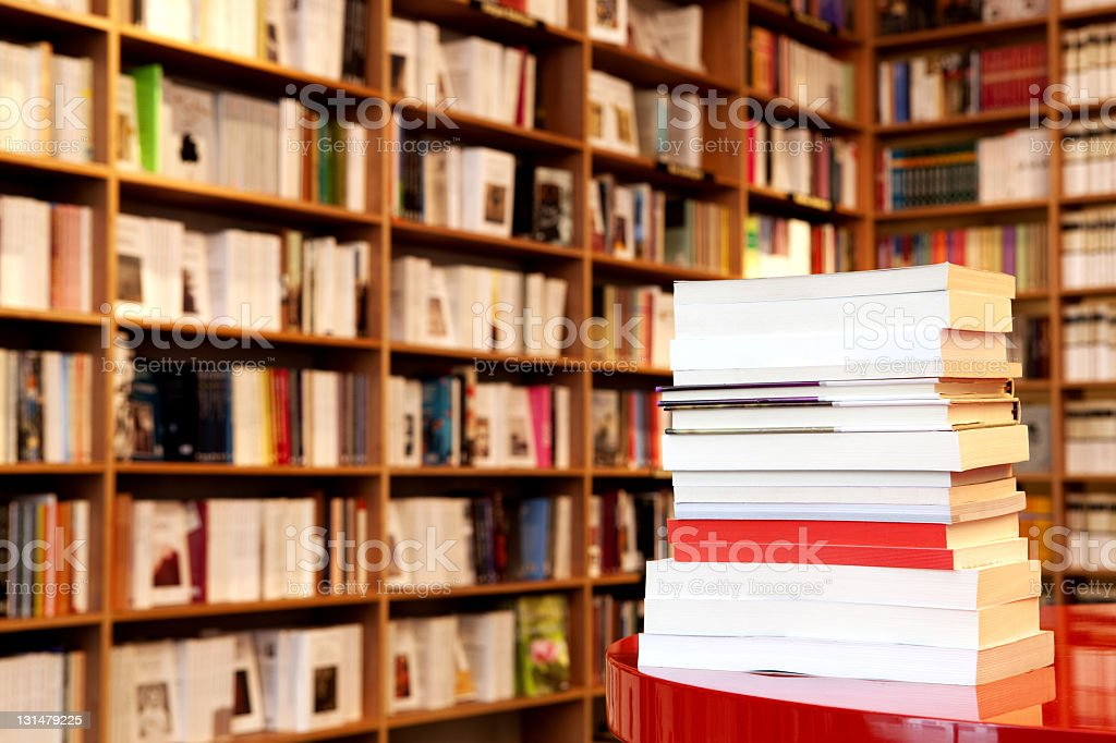 bookstore stock photo