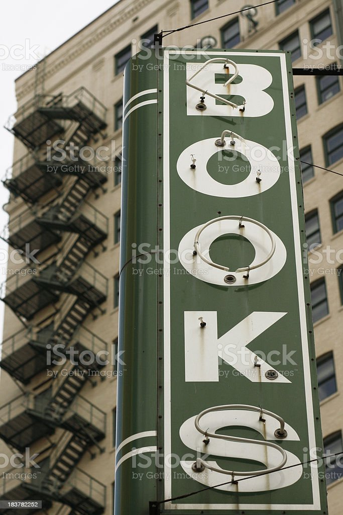 Bookstore sign stock photo