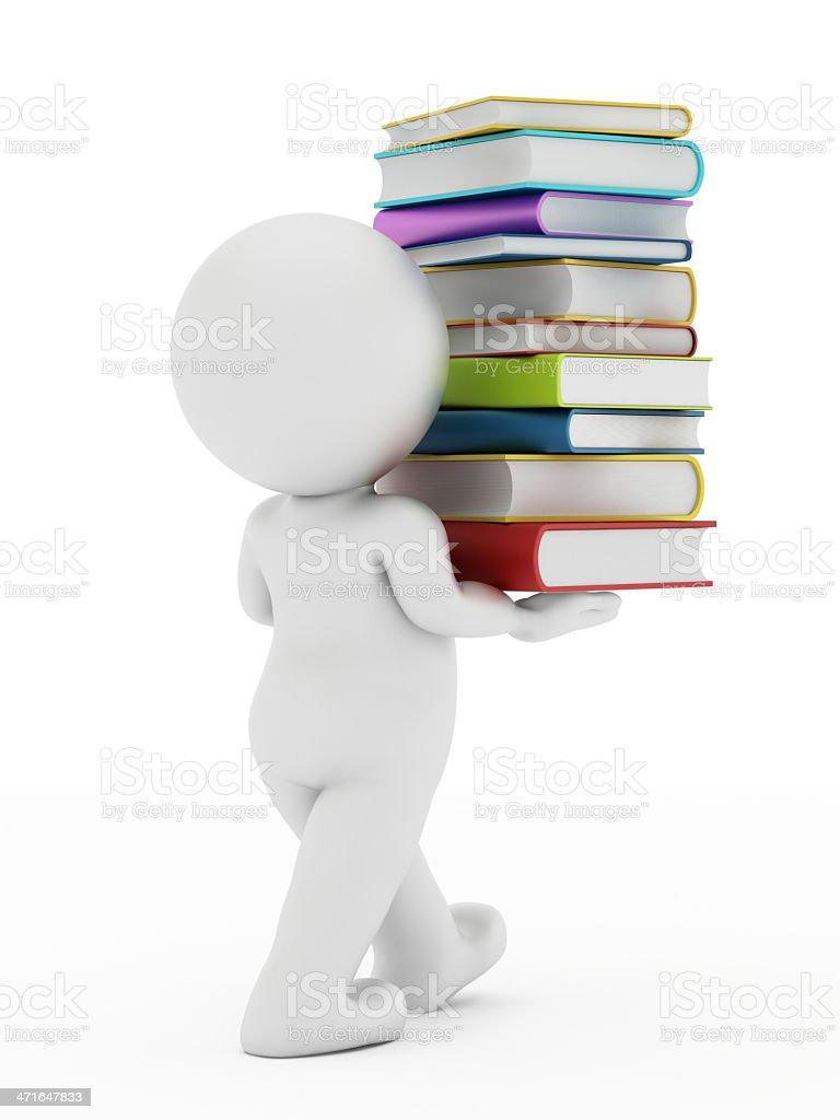 Bookworm royalty-free stock photo