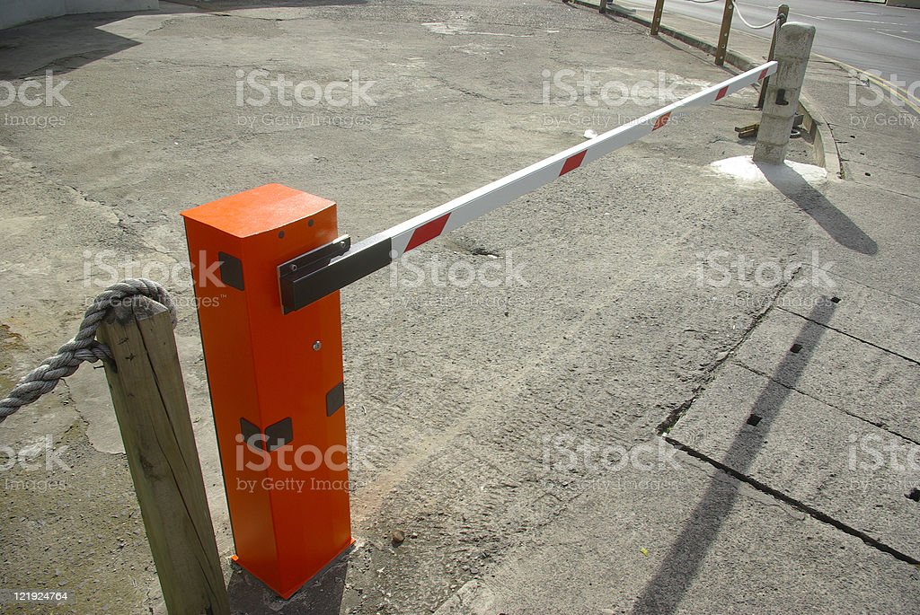 boom barrier parking and entry control system royalty-free stock photo