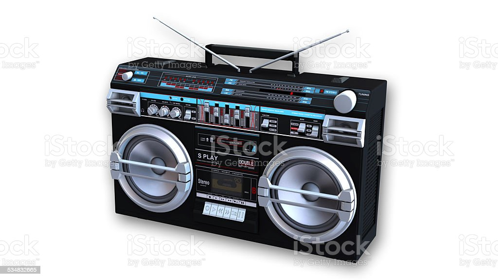 Boom Box Cassette Player stock photo
