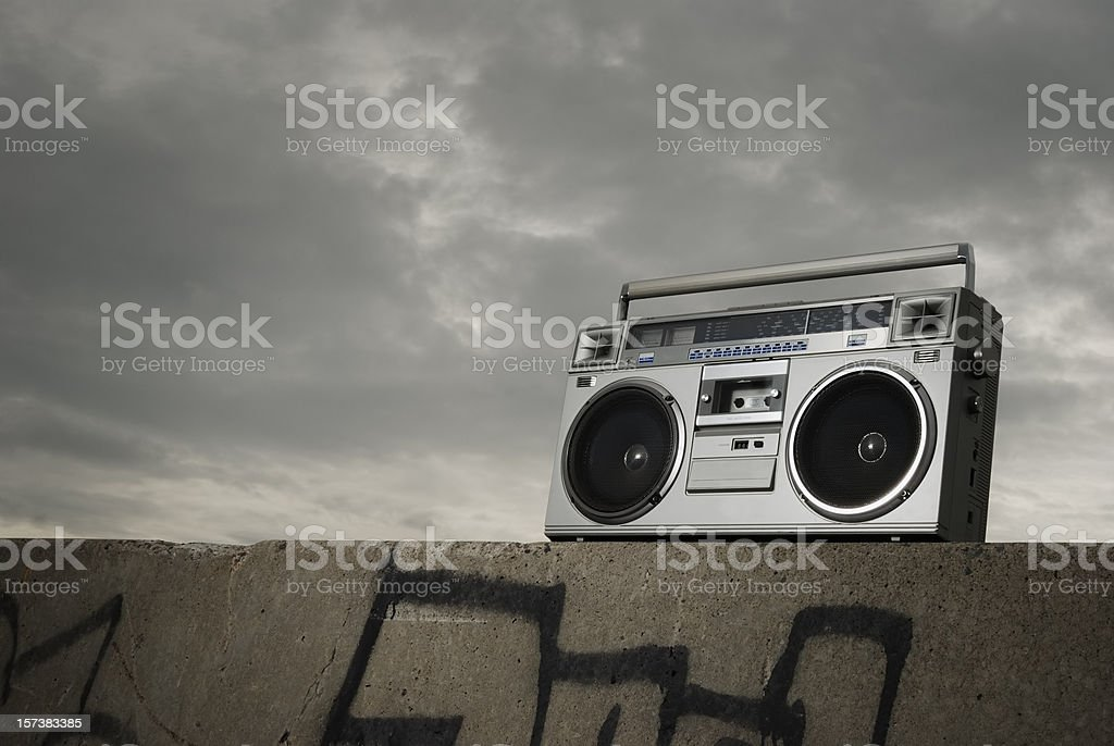 Boom box stock photo