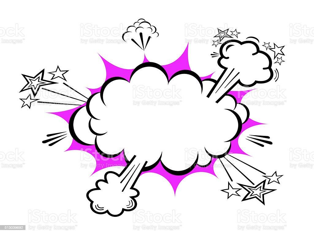 Boom cloud icon stock photo