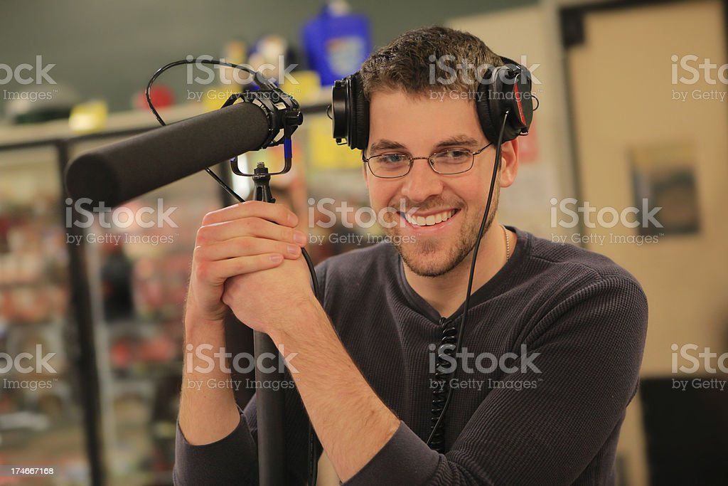 Boom Operator/Sound Man stock photo