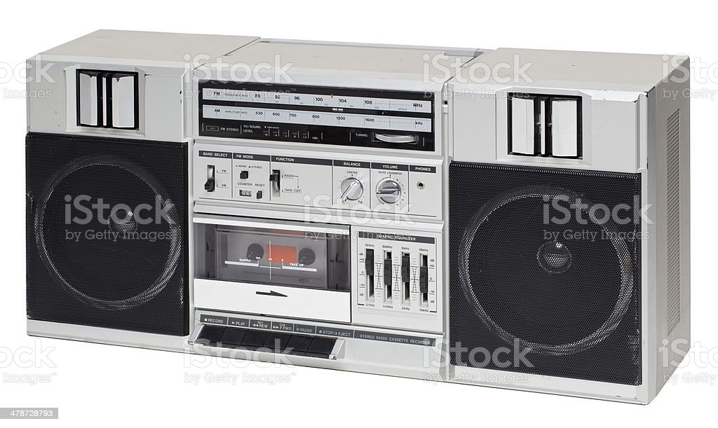 Boombox isolated on white stock photo