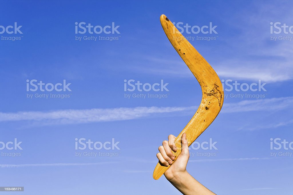Boomerang stock photo