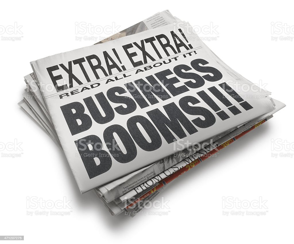 Booming Business royalty-free stock photo