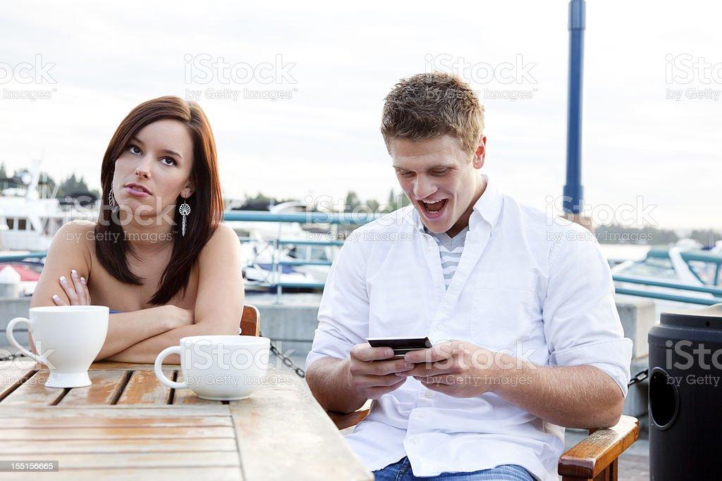 Boorish Boyfriend stock photo