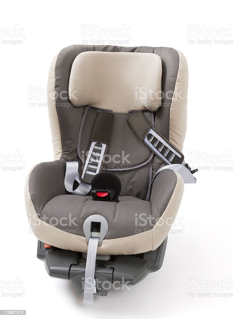 booster seat for a car in light background stock photo