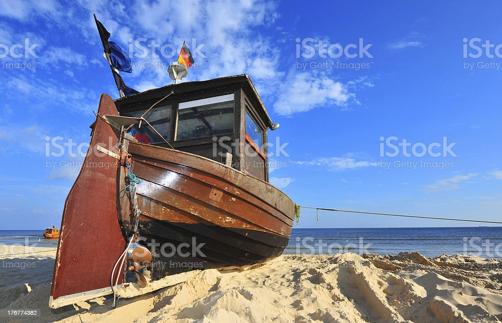 Boot am Strand royalty-free stock photo