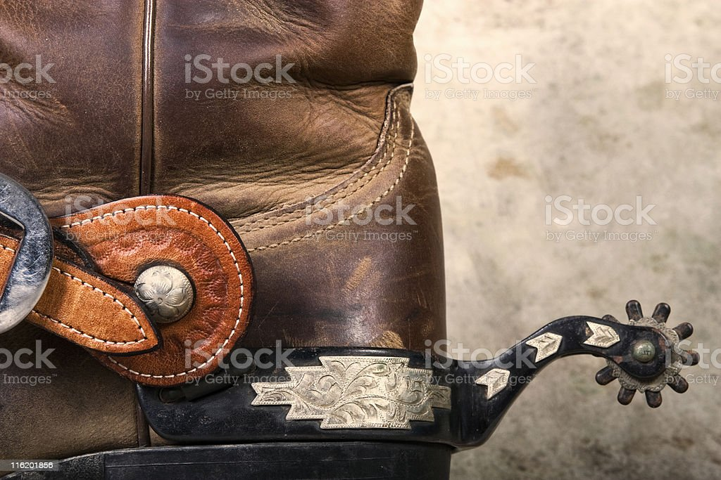 Boot and Spur royalty-free stock photo